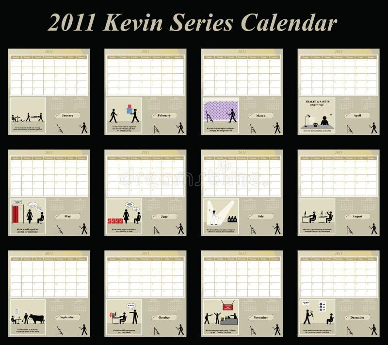 Download 2011 calendar stock vector. Image of june, kevin, friday - 14551163
