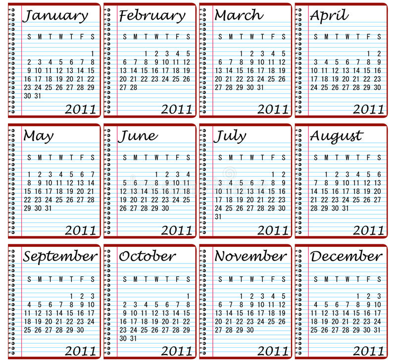 Download 2011 Calendar Royalty Free Stock Images - Image: 15020849
