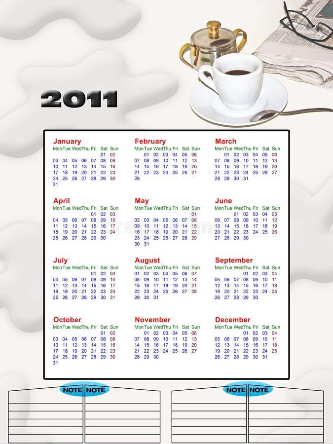 2011 calendar royalty free stock photography