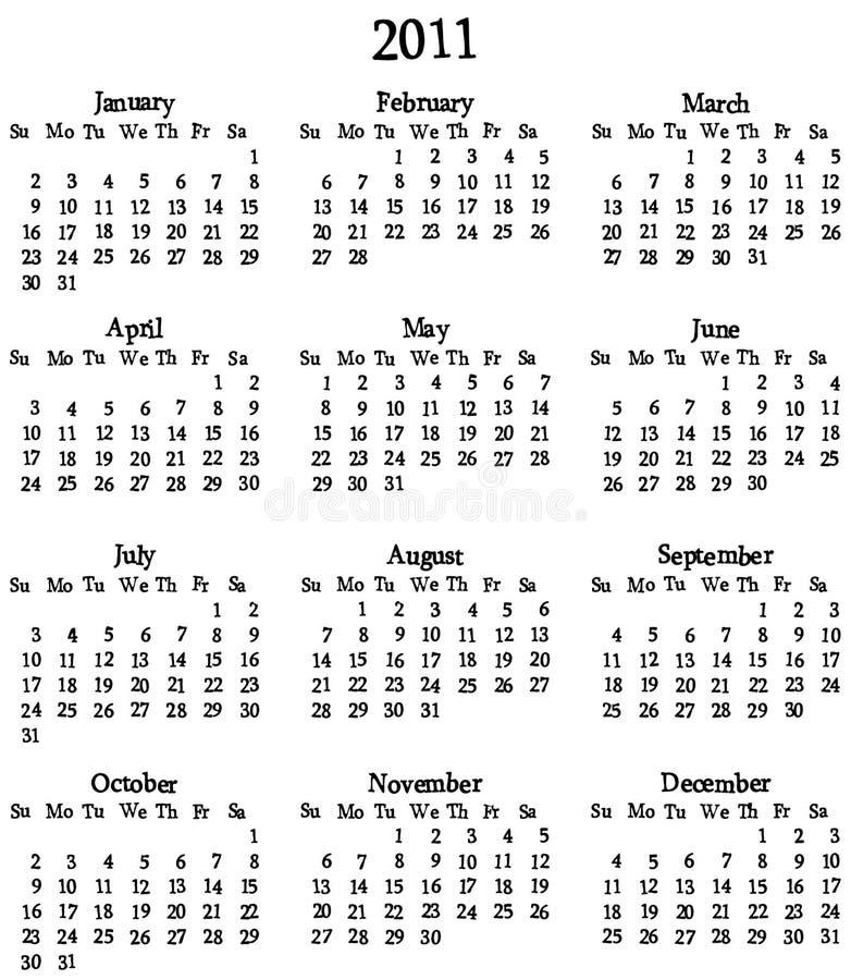 2011 Calendar Template Stock Photo