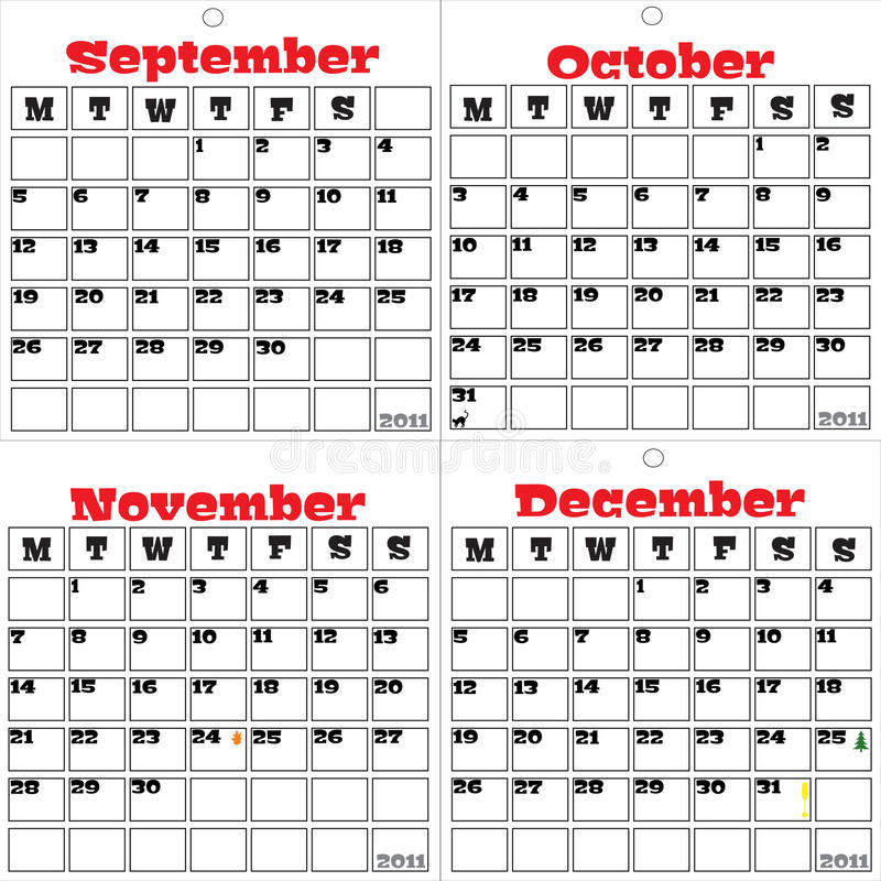 Free 2011 Calendar Three Of Three Stock Images - 14187464