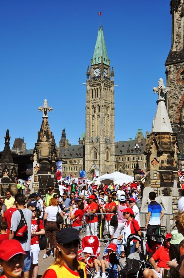 2011 Canada dzień wzgórza Ottawa parlament zdjęcia stock