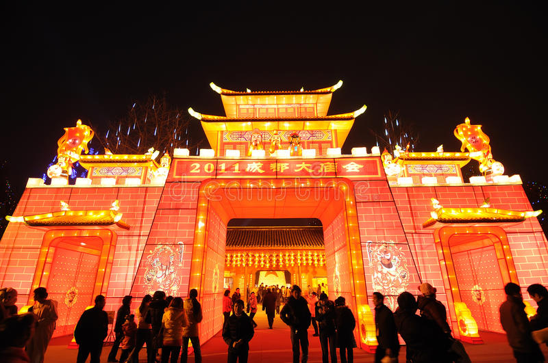 2011 Chinese New Year Temple Fair In Chengdu Editorial Stock Image