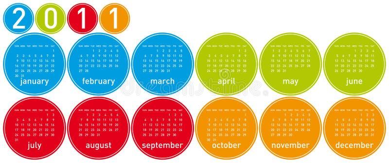 2011 Colorful Calendar royalty free stock photos