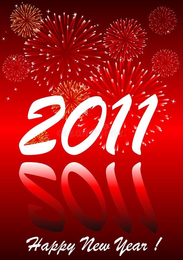 2011 con i fuochi d'artificio royalty illustrazione gratis