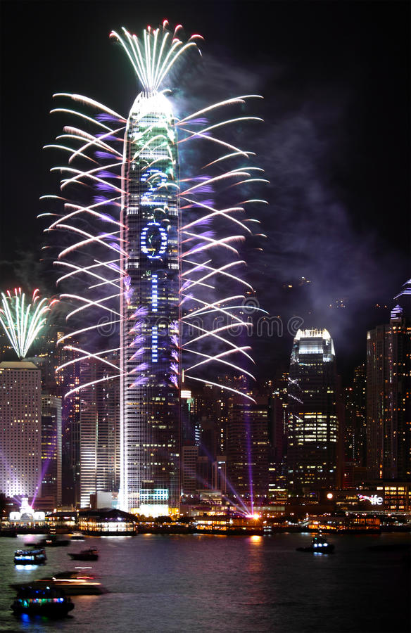 Download 2011 Countdown Fireworks Show Editorial Stock Image - Image: 17628119