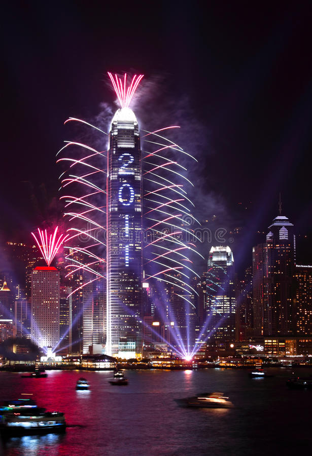 Download 2011 Countdown Fireworks Show In Hong Kong Editorial Stock Photo - Image: 17628118
