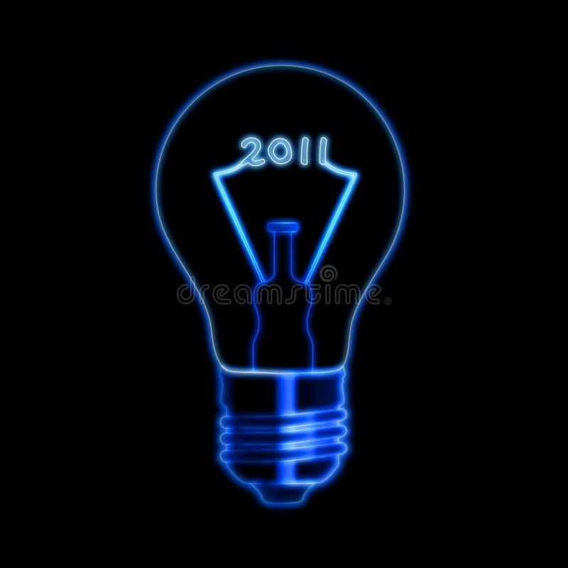 2011 dans l'ampoule illustration libre de droits