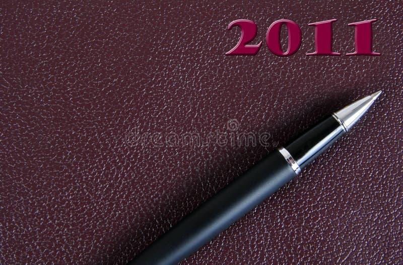 2011 Diary. stock photos