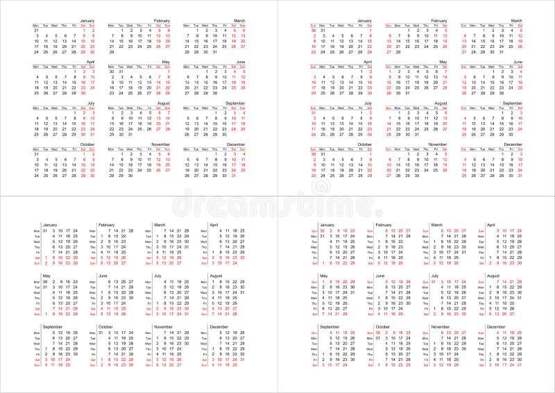 2011 einfache Kalender (Vektor) lizenzfreie abbildung