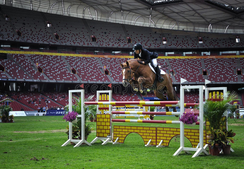 2011 Equestrian Pechino grande Prix internazionale immagine stock