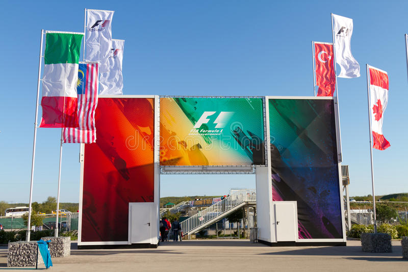 Download 2011 F1 Turkish Grand Prix editorial stock photo. Image of entrance - 20848138