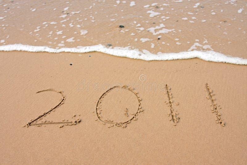 2011 feliz - Ano novo feliz foto de stock royalty free