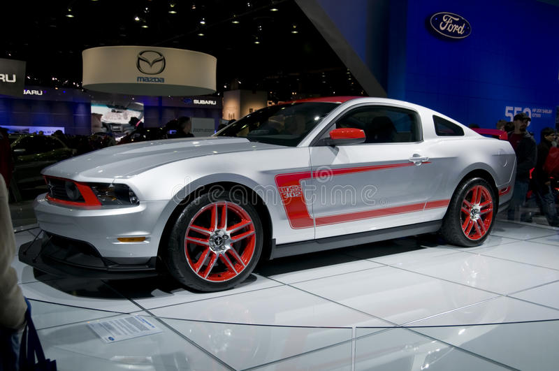 2011 Ford Mustang Boss 302 at NAIAS. 2011 Mustang Boss 302 by Ford, presented at the 2011 North American International Auto Show. See my portfolio for more royalty free stock images