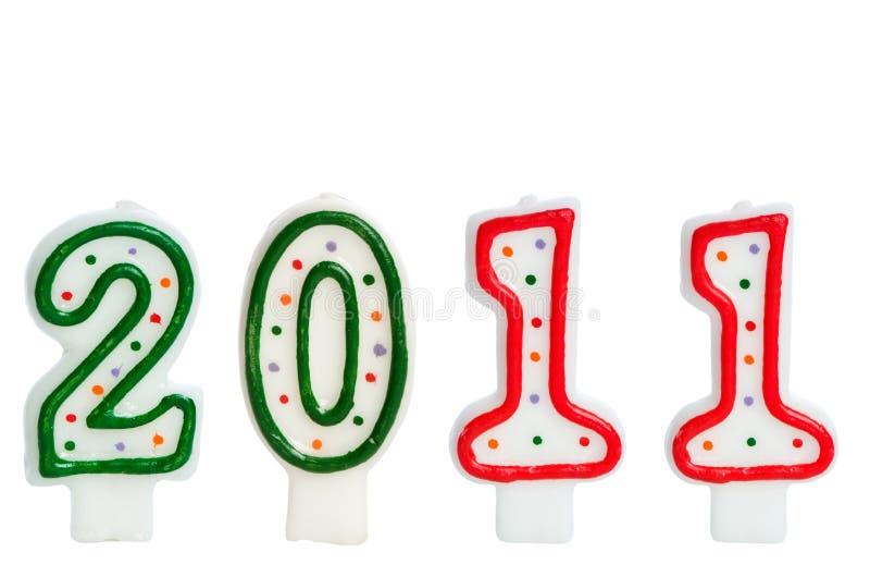 2011 gemaakt met kaarsen stock afbeeldingen