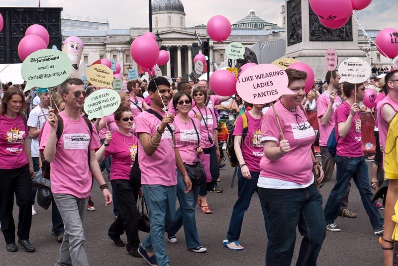 2011 glada london ståtar stolthet arkivfoto