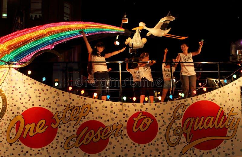 2011 gras mardi游行悉尼 免版税库存图片