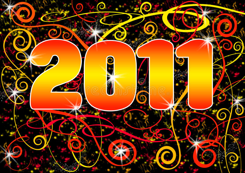 2011 Grunge Spiral Postcard royalty free stock photos