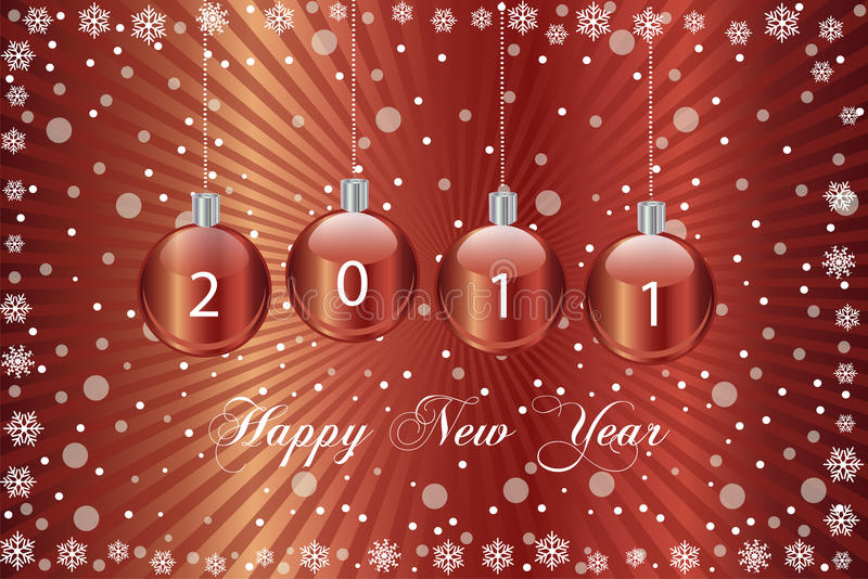 2011 Happy New Year royalty free illustration