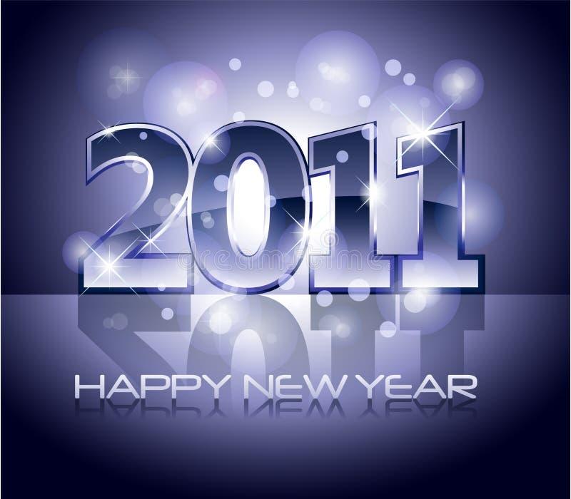 2011 Happy New Year Illustration Stock Image