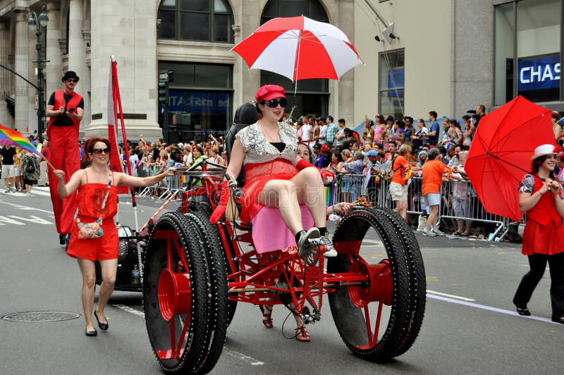 2011 homoseksualnych nyc parady dum fotografia stock