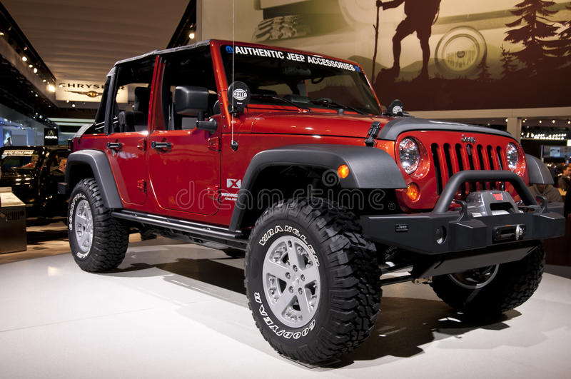 2011 Jeep bij NAIAS royalty-vrije stock afbeelding
