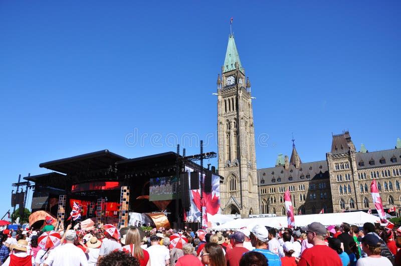 2011 jour du Canada en côte du Parlement, Ottawa photographie stock libre de droits