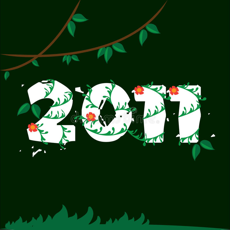 Download 2011 Jungle stock vector. Illustration of celebrate, beautiful - 16936313