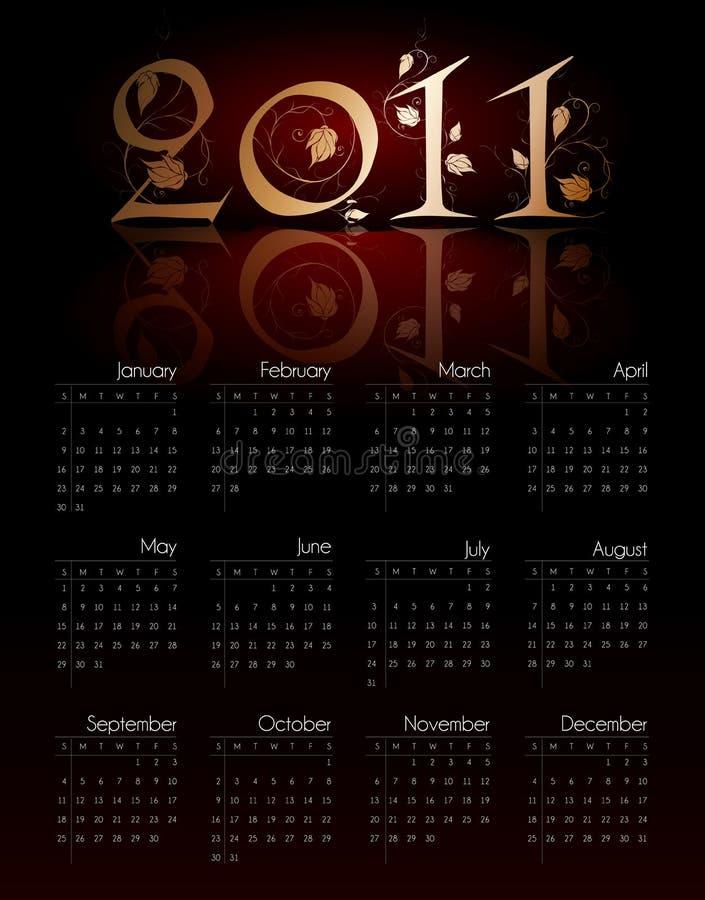 2011 kalendarzowy rocznik ilustracji