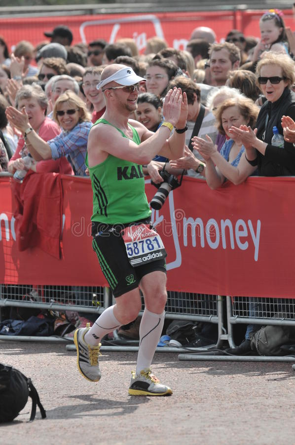 2011 London maratonu dziewica fotografia stock