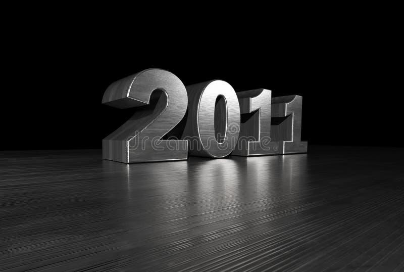 Download 2011 Metal Font stock illustration. Image of date, modern - 14076733