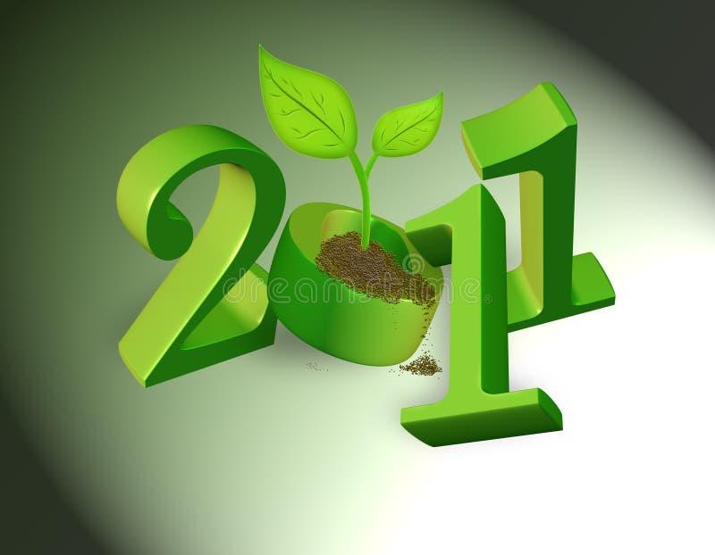 2011 naturalni tło zielonych ilustracja wektor