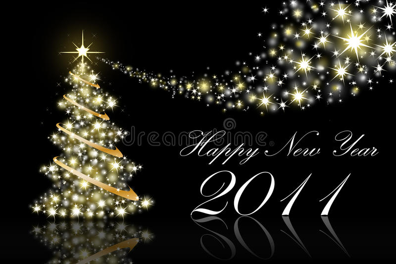 2011 New Year Greeting Cards stock photo