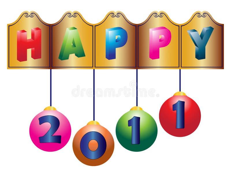 Download 2011 new year greetings stock illustration. Illustration of season - 16645182