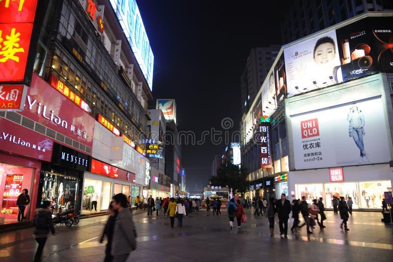 2011 new year shopping in chengdu. 2011 new year shopping, chunxi street,chinese famous business walking street in chengdu stock image