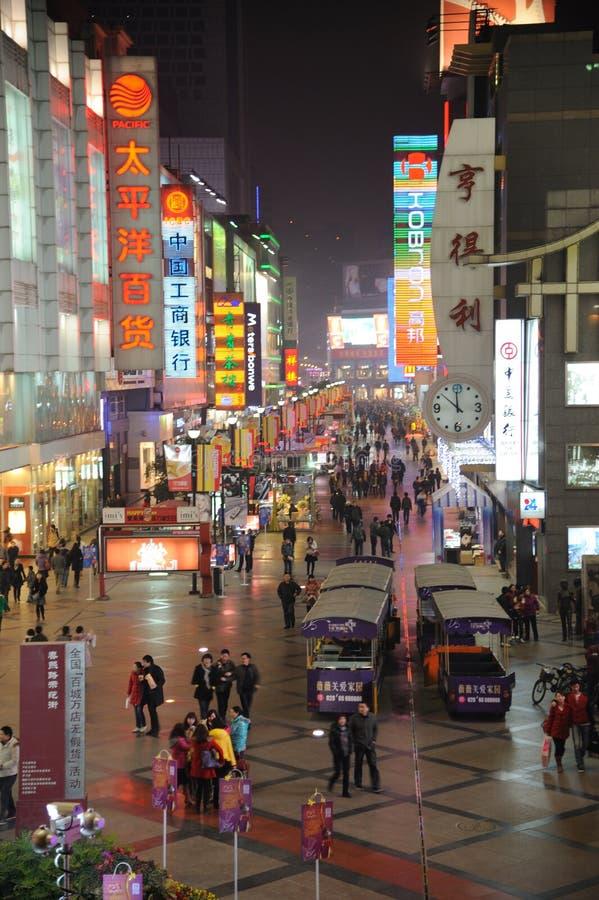 2011 new year shopping in chengdu. 2011 new year shopping, chunxi street,chinese famous business walking street in chengdu stock images