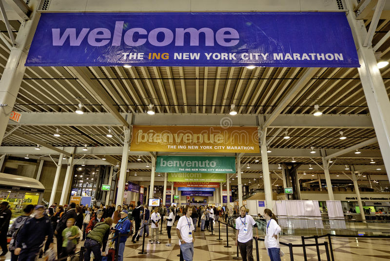 2011 New York City Marathon Expo At Javits Center Editorial Photography