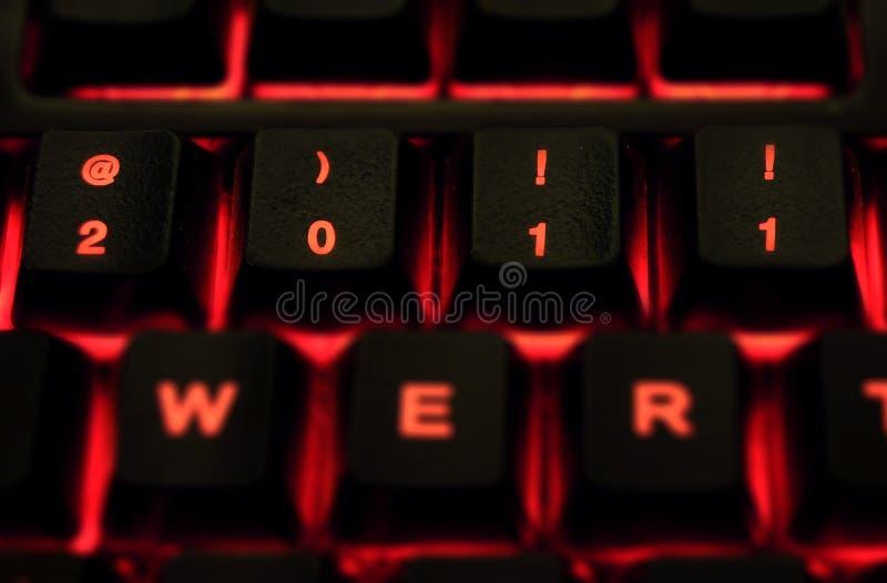 2011 no teclado imagens de stock