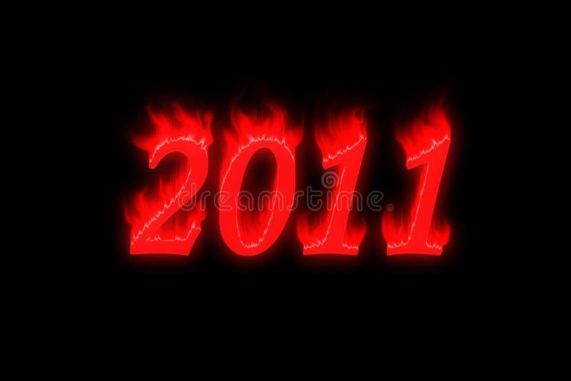 2011 nya år royaltyfri foto