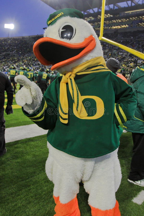 Free 2011 PAC-12 Championship Game - Duck Mascot Stock Images - 24813684