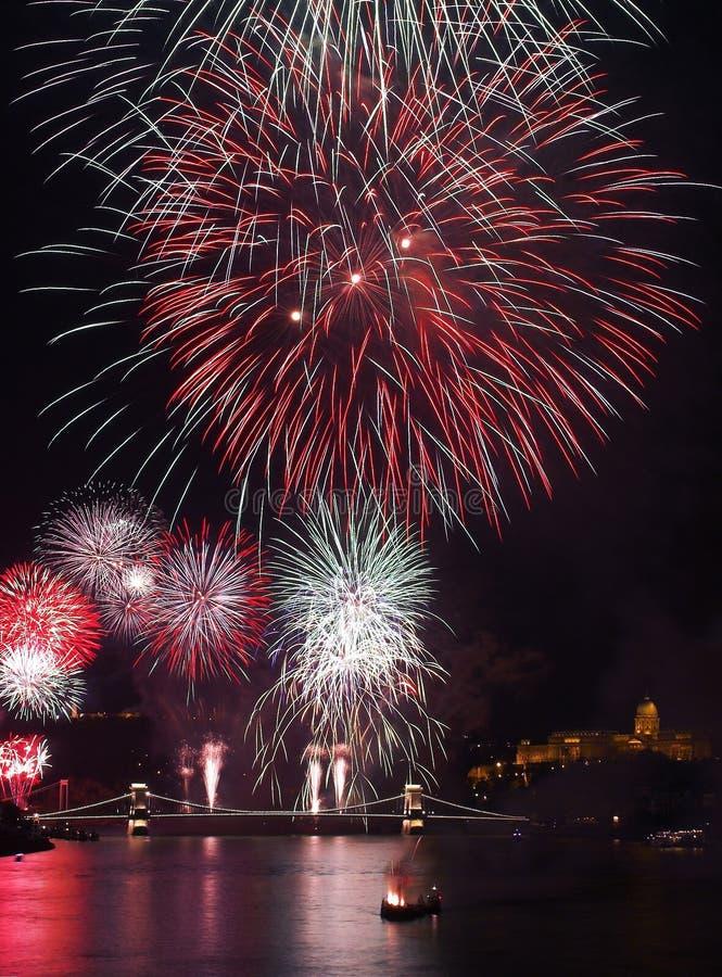 2011 pokazu fajerwerku nowy rok zdjęcia royalty free