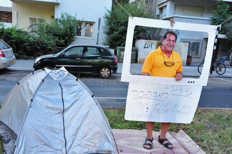 2011 protestos de abrigo em Israel imagem de stock royalty free