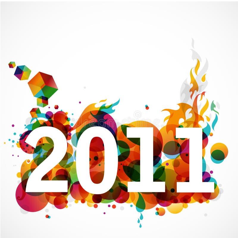 2011 skraj nya år royaltyfri illustrationer