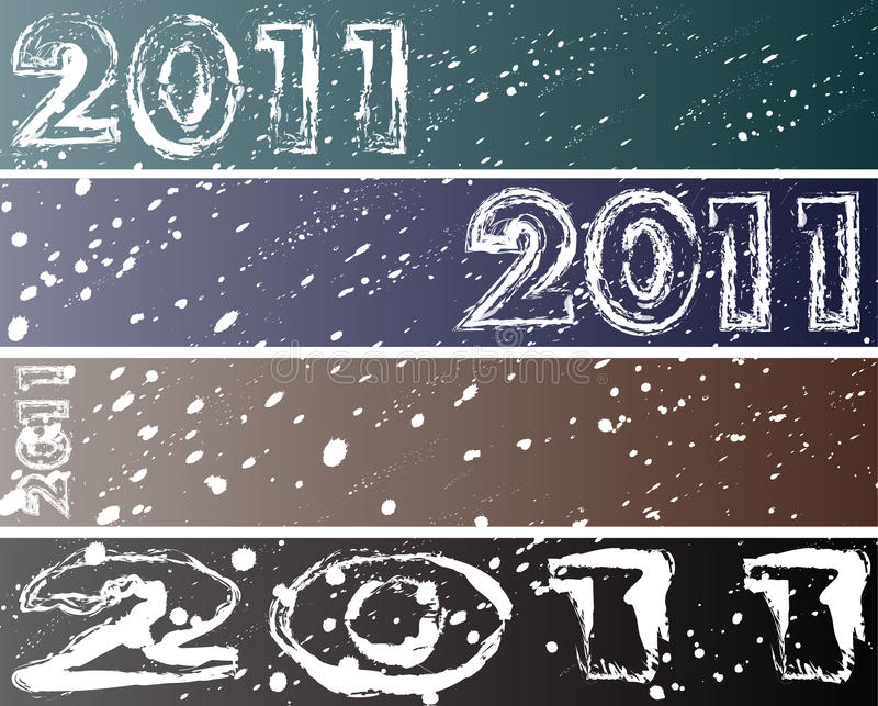 2011 snow banners (468/90) stock image