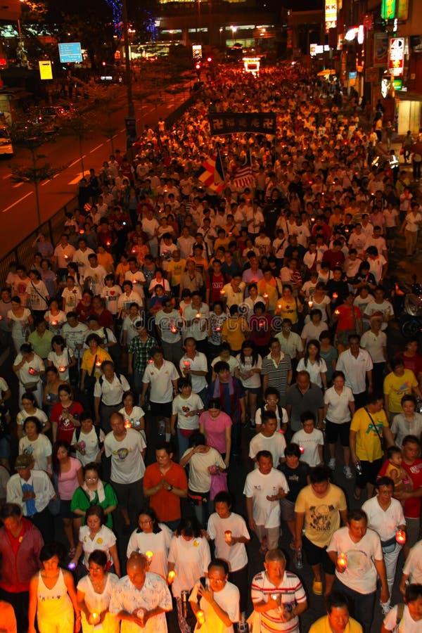 2011 tłumu ogromny korowodu wesak obraz royalty free