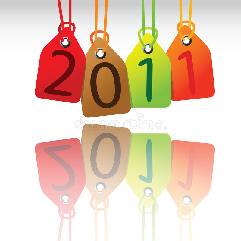 2011 tags stock photo