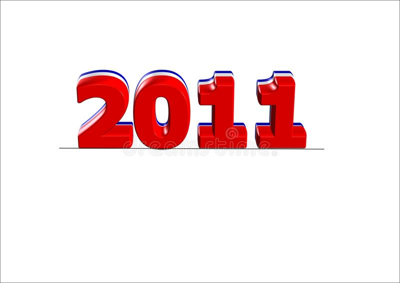 2011 text for new years stock photos