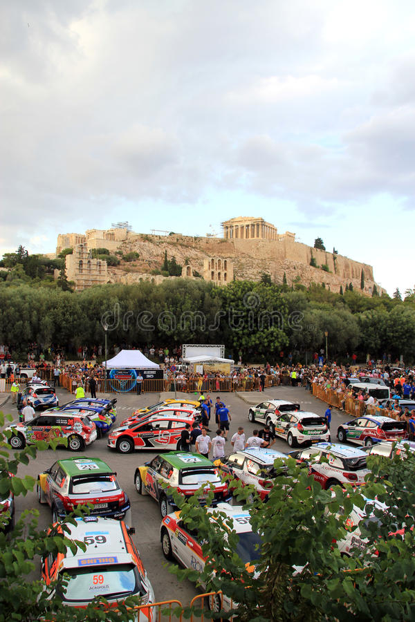 2011 WRC Rally Acropolis Editorial Stock Image