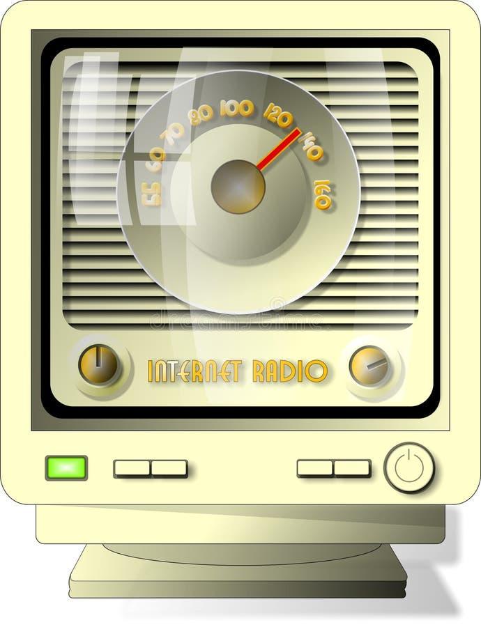 互联网收音机 皇族释放例证