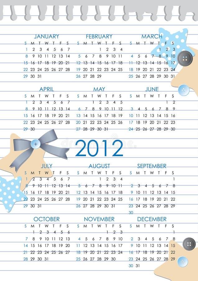 2012个日历年度 库存例证